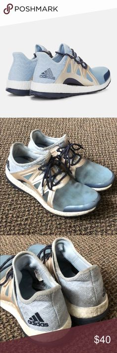 Adidas Pureboost xpose clima shoes Worn, but still have lots of life left in them. Could easily be cleaned. Make an offer! adidas Shoes Athletic Shoes