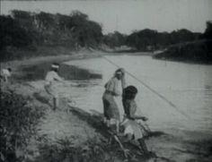 """Fotograma de """"El último malón"""", de Alcides Greca, filmada en 1918."""