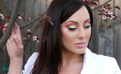 Watermelon Inspired Makeup Geek, Beauty Makeup, Eye Makeup, Hair Makeup, Hair Beauty, Beauty Stuff, Pink Eyeshadow, Eye Tutorial, Pink Makeup