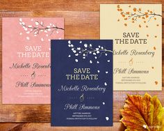 Drifting Hearts Save The Date garden floral nature by coprinted