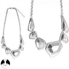 SG Paris Necklace 42cm+Ext Rhodium Argente Necklace Necklace Metal Summer Women Ethno Glam Fashion Jewelry / Hair Accessories Geometric Form $10.16