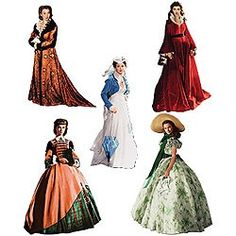 Gone With The Wind™ Scarlett Wardrobe Magnet Set - Tabletop...