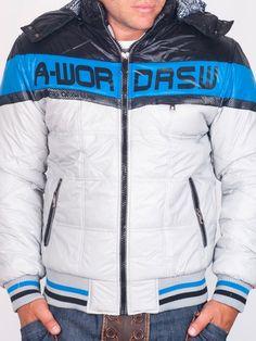 Мъжки Зимни Якета - Светло сиво зимно яке A-WORD RSW - цена 76.00 лв.