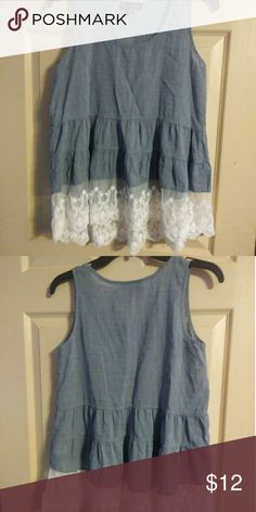 Summer top It is a thin summer top, very fresh. Has a very nice lace at the bottom. In good conditions, no sign of wear. Tops Blouses