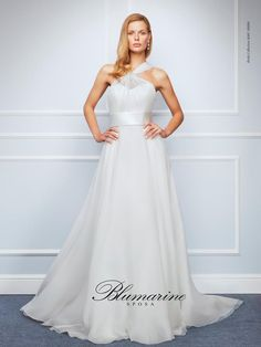 Visit the official Blumarine ® online store to see the latest fashionable looks. 2016 Wedding Dresses, Wedding Pics, Designer Wedding Dresses, Dream Wedding, Colorful Prom Dresses, Couture, One Shoulder Wedding Dress, Evening Dresses, Chiffon
