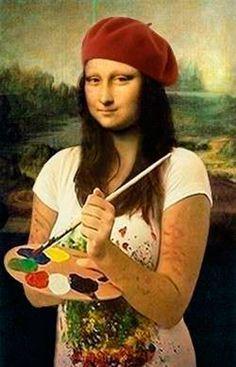 Fantastic Art teacher resource page Mona Lisa Drawing, Mona Lisa Parody, Banksy Art, Van Gogh Art, Principles Of Art, Park Art, School Art Projects, Albrecht Durer, Elements Of Art
