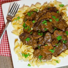 Slow Cooker Beef Stroganoff. Just replaced the wine with more beef broth.  Could make this and freeze leftovers!! This was a hit!! I did thicken up the sauce a little with a tiny amount more flour, but next time will add even more, or cornstarch. Sauce was delish just too thin.