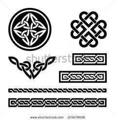 Celtic knots, braids and patterns - vector by RedKoala, via ShutterStock