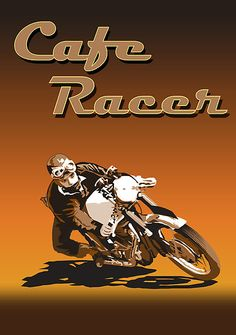 Cafe Racer style poster