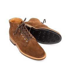 e149333e04548a Viberg Service Boot in Snuff Suede - Dainite Sole - VIBERG BOOTS - BRANDS -  Superdenim
