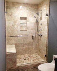 Master bathroom cream beige neutral Room Gallery - The Tile Shop