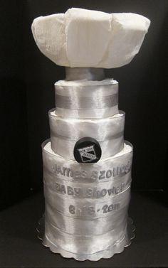 Cute Stanley Cup diaper/towel cake!
