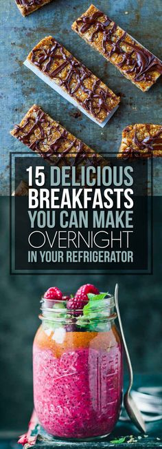 15 Insanely Delicious Overnight Breakfast Recipes That are Made While You Sleep - quick easy Overnight Breakfast, What's For Breakfast, Breakfast Dishes, Breakfast Recipes, Overnight Oats, Health Breakfast, Breakfast Healthy, Cooking Recipes, Healthy Recipes