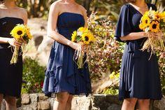 bridesmaid sunflower bouquet ideas | Sunflower wedding bouquets!