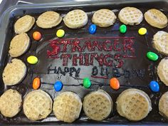 This was my 11th birthday party cake! And yes my birthday theme was Stranger Things.