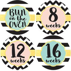 Baby Lot Of 3 Pearhead Milestone Photo Prop Belly Stickers Set Girls 0-12 Month Products Are Sold Without Limitations