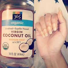 """Did you guys ever put the organic coconut oil nail massage to the test? Look how long and healthy my natural nails are now. Just once a week! Crazy! (Taken with Instagram)"""
