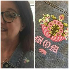 Check out how cute my moms jean jacket turned out with some machine embroidery! I used my #ImaginaryMenagerie software loaded on my @BerninaUSA and hooked @KatRunyan up! • #TulaPink @OESD_Embroidery #OESD #OESDembroidery #machineembroidery