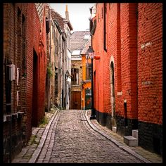 small street in the medieval part of Ghent, named Patershol, near the castle of the Counts