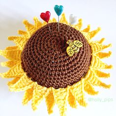 Crochet Sunflower Pincushion A Collection of the Best Crochet pattern Blogs. Get the Top Stories on Crochet pattern in your inbox