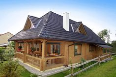 a thought for my cottage :) Rest House, Tiny House, Cabin Design, House Design, Log Home Living, Wooden House, Design Case, Log Homes, Home Fashion