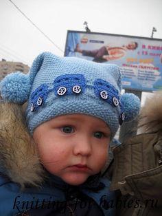 Zimná pletená čiapka - viď časť 1. a 2 - model 2