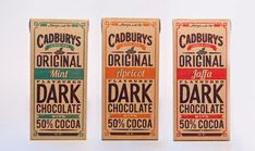 Vintage packaging for chocolate! Makes me want to sit on the porch and chew on one of the bars.