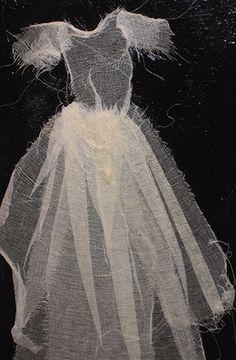 "Patti Meyers ~ ""Quivering"" Mixed media 3 x 4 ft via pattimeyers.com   Gossamer Dress"