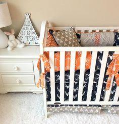 Deer, Arrows, and Tee Pees Baby Crib Bedding by RitzyBabyOriginal