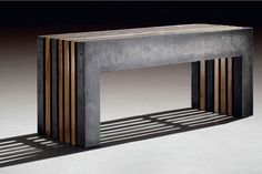 Concrete/wood bench....conctete and wood....such a winning combo                                                                                                                                                                                 More