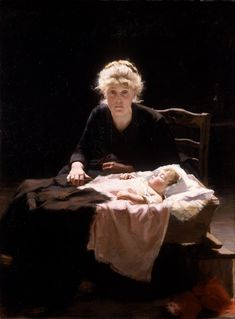 I fell in love with this painting as a child and at 38 I still love her. Look at the light... Fantine by Margaret Bernardine Hall....Walker Art Gallery, Liverpool
