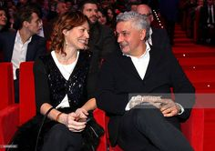 Roberto Baggio (R) attends during the preview screening of the 'Zanetti Story' on February 27, 2015 in Milan, Italy.