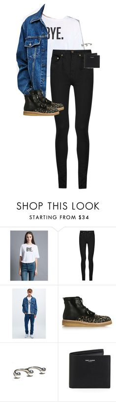 """Untitled #12325"" by alexsrogers ❤ liked on Polyvore featuring Yves Saint Laurent, Calvin Klein Jeans and Jimmy Choo"