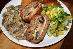 Mozzarella, Food And Drink, Pork, Meat, Polish Recipes, Cooking Recipes, Kochen, Pork Roulade, Pigs