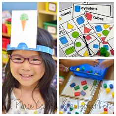 Great Kindergarten 2D and 3D shape activities for guided math groups.