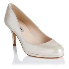 Sybila Shimmer Suede Platform Court Shoe