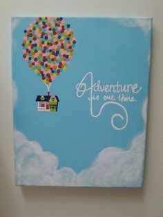 The adventure is out there! Disney Up inspired painting by ShelbysArtGrotto on . The adventure is out there! Disney Up inspired painting by ShelbysArtGrotto on . Disney Canvas Paintings, Disney Canvas Art, Simple Canvas Paintings, Easy Canvas Art, Small Canvas Art, Easy Canvas Painting, Mini Canvas Art, Cute Paintings, Diy Painting