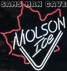 Molson Ice Leaf Neon