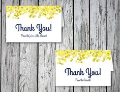 Bubbly Wedding & Bridal Shower Thank You Notes by RejoiceGraphics