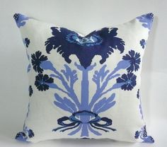 Quadrille Henriot Pillow Cover in Blues by WestEndAccents on Etsy, $95.00