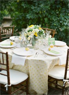 lemon wedding ideas