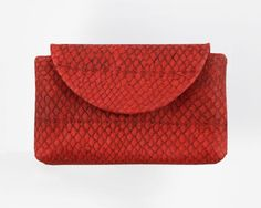 Leather Smartphone Clutch Salmon – CROWDYHOUSE