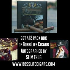 Holiday Season Savings Alert Now thru Cyber Monday get a 12 pack box of Boss Life Cigars ✒ Autographed by SLIM THUG @hogglife101 (Perfect stocking stuffer) ✴www.bosslifecigars.com✴ ONLINE ONLY also all #bosslifecigars are at a discounted price go to www.bosslifecigars.com now!! #SmokeAnywhere #bosslifecigars #bosslife #ecigar #ecig #girlswhovape #vape #vapecommunity #cigar #ECigars #cigarfriends #cigarfriendshouston #BossesWhoVape #blackfriday #cybermonday #vapedeals #cigardeals  #groupon…