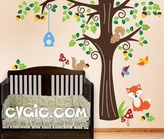 Forest Animals Wall Decals – Baby Nursery Decals – evgie