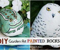 DIY Garden Art Painted Rocks H2