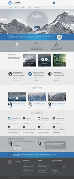 Circles PSD Template | #webdesign #it #web #design #coffee #layout #userinterface #website #webdesign <<< repinned by an #advertising #agency from #Hamburg / #Germany - www.BlickeDeeler.de | Follow us on www.facebook.com/BlickeDeeler