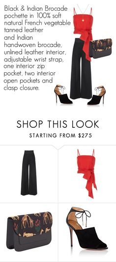 """""""SHOP - Kintu New York"""" by ladymargaret ❤ liked on Polyvore featuring Martin Grant, MDS Stripes, Aquazzura and Foundrae"""