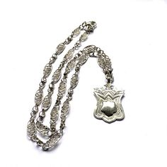 Antique Silver Fob Necklace by Fribble Pistol