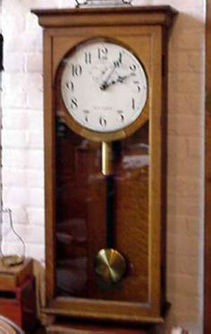 vintage german ceramic wall clock from mauthe cream and