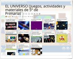 """""""13 Actividades interactivas y materiales didácticos para el estudio de EL UNIVERSO en 5º de Primaria"""""""